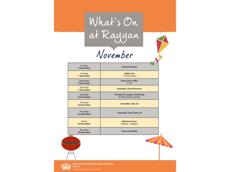 What's on Rayyan November