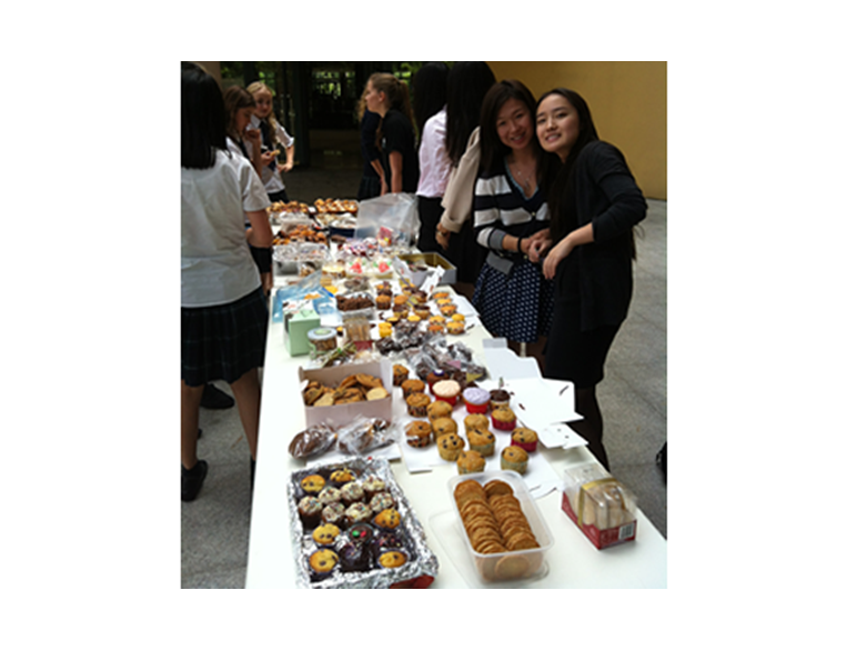 Students at the British International school Shanghai Puxi raise money all week to support Nepal