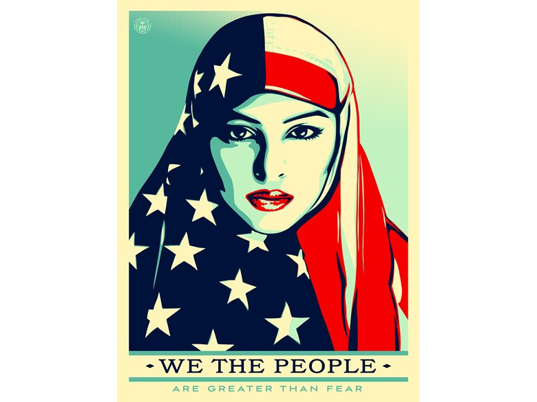 Shepard Fairey - We the people are greater than fear