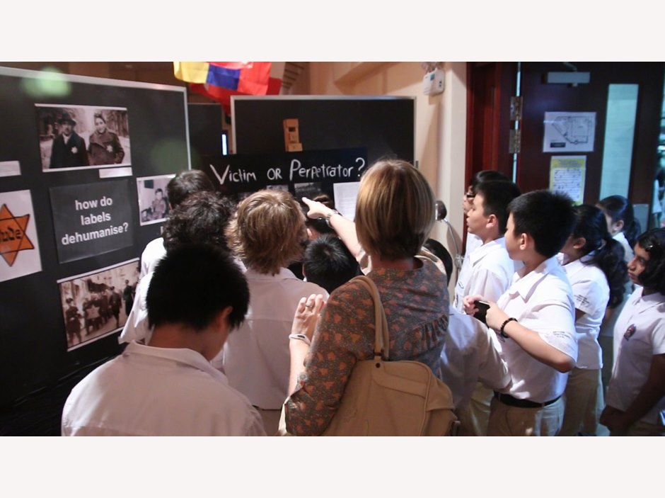 Visitors at Anne Frank Exhibition