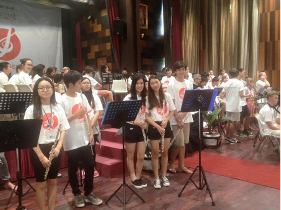 Students practice before FOBISIA Orchestral Festival