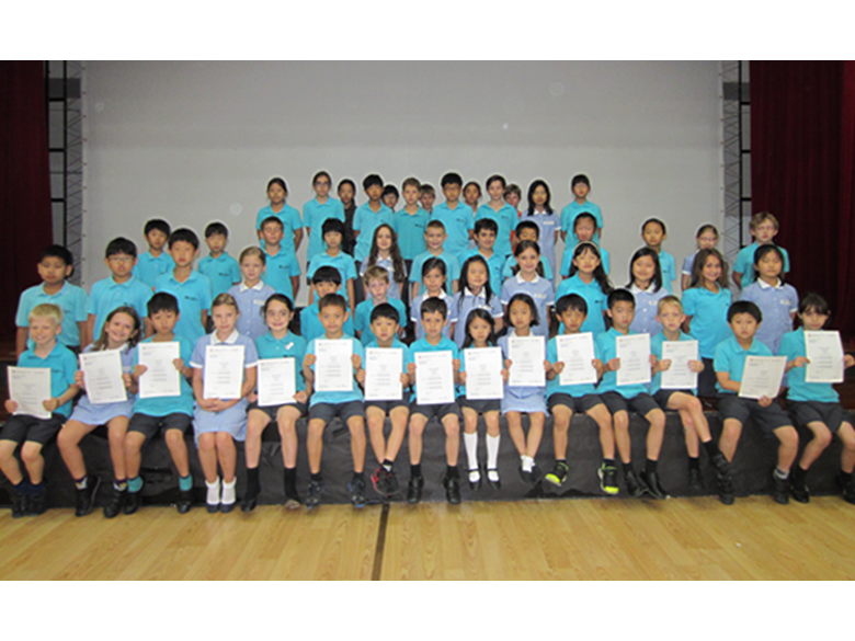 Our students are presented with their Cambridge Young Learners certificates
