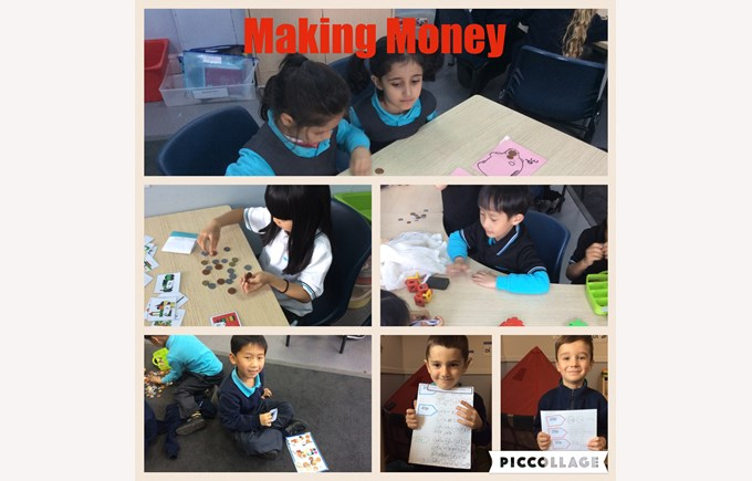 Year 1 make amounts with money