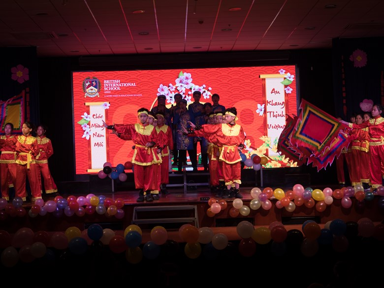 British International School Hanoi Tet celebration