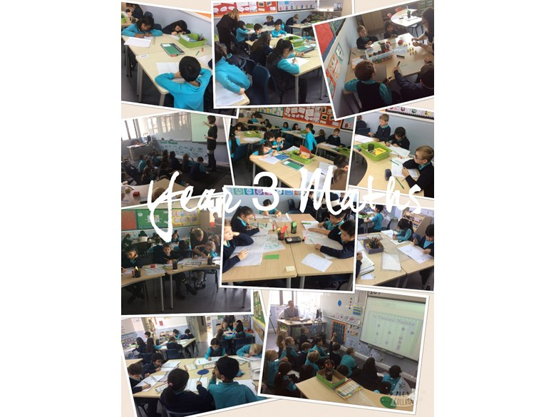 A glimpse of what Year 3 have been learning in their Maths classes this week.