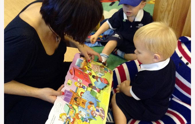 Reading in Pre-Nursery