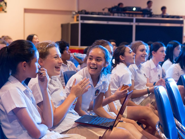 Happy and optimistic students at the British International School, HCMC