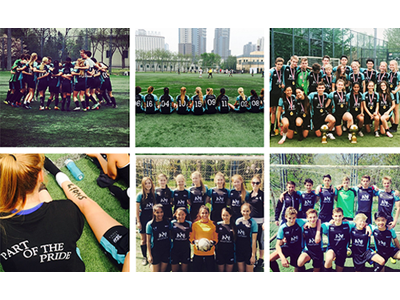 The BISS Puxi girls and boys football teams were victorious at the ACAMIS tournament this year