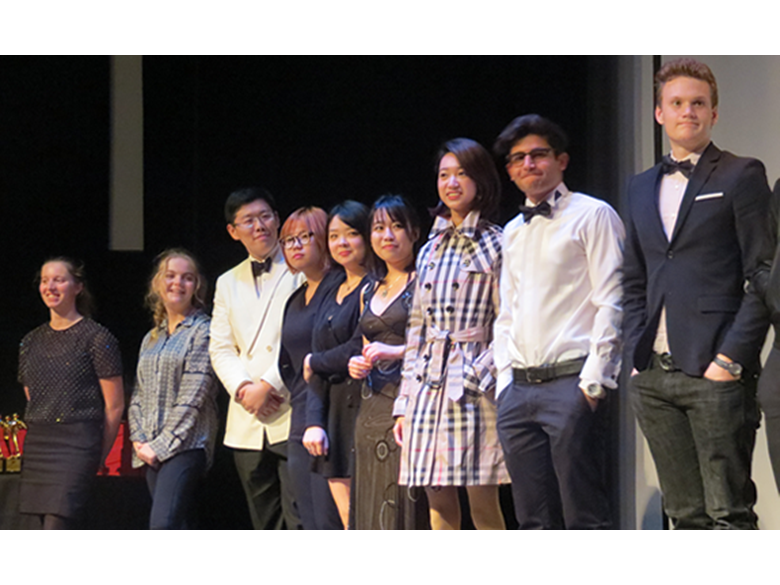 Students at the British international School Shanghai, Puxi celebrate their achievements in Film and Media at the annual BFAs