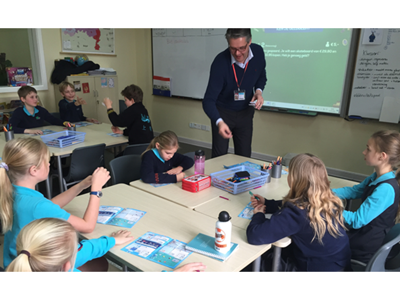 Rabobank visit the Shanghai Dutch School at BISS Puxi for National Money Week