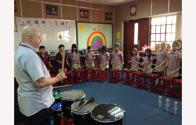 Drumming workshop with UK percussionist Andy Gleadhill 3