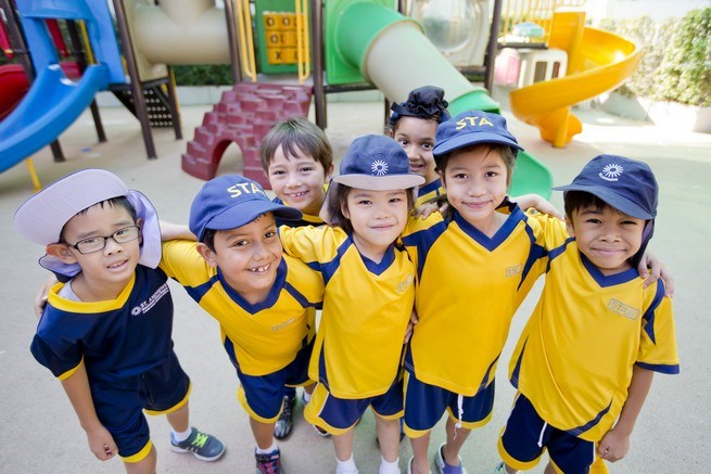 Students at St Andrews International School Bangkok, Thailand
