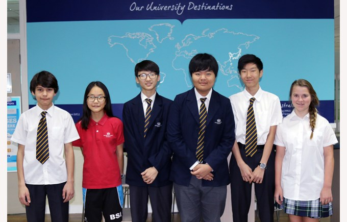 WSC BSB Junior Team (L-R) Daniel, Laura, Manseok, Eric, Seungwook, Barbel