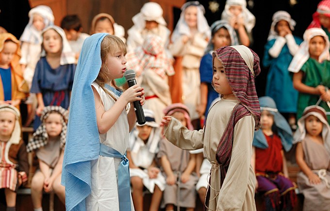 Nursery and Reception's Popup Nativity