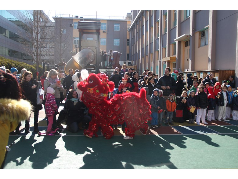 Lion Dance at Temple Fair