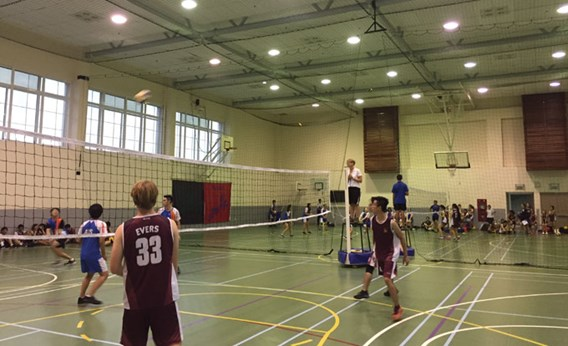 U19 b boys Volleyball v AIS