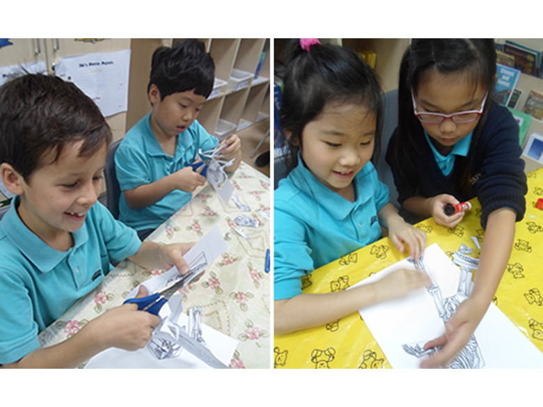 Year 3 students at the British International School Shanghai, Puxi learn all about Dinosaurs on Dinosaur Day.
