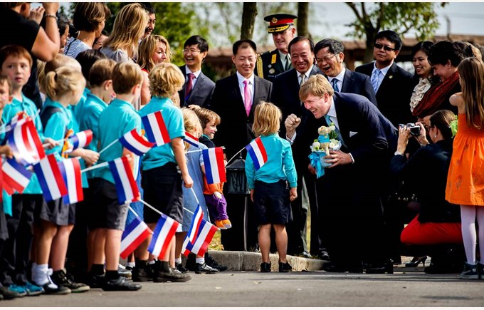 Shanghai Dutch School royal visit