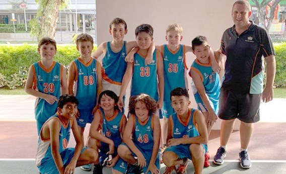 Dover Court International School Singapore Under 12 Boys Basketball ACSIS Champions