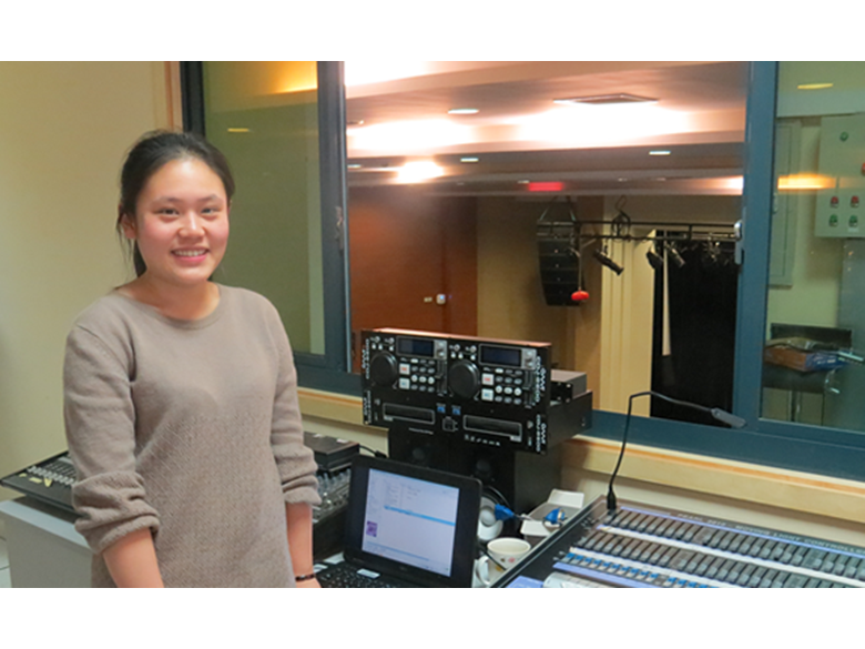 Elaine Wang, auditorium technician at the Birtish International School