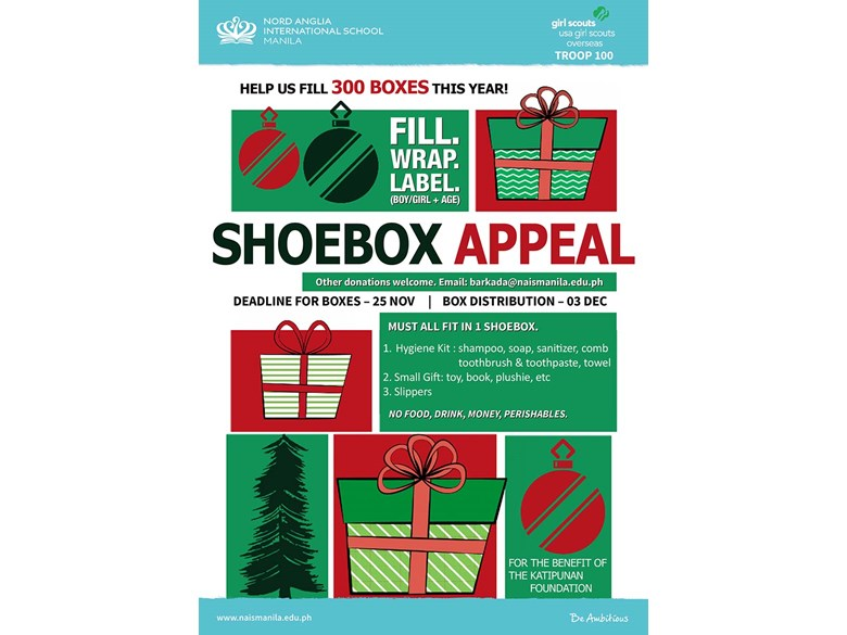 shoebox appeal poster