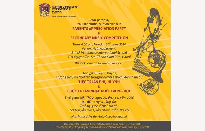 parent party and music competition 20th june
