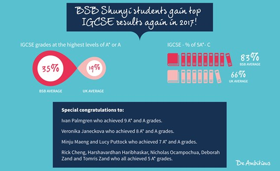 IGCSE results banner 2017 540x329