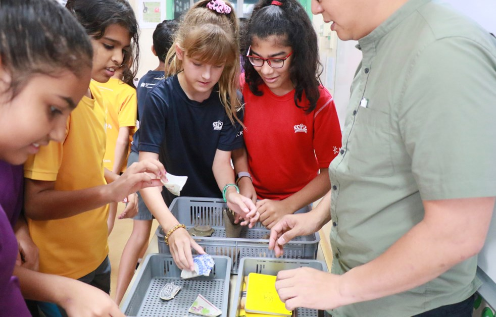 Dover Court International School DCIS Year 7 History Archaeologist visit