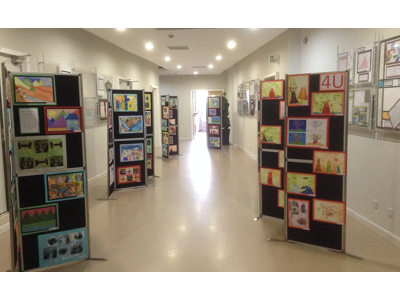 Year 3 and 4 students from BIS Puxi put on an art exhibition