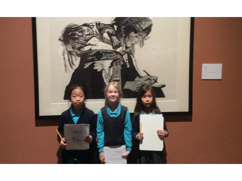 Year 2 students at the British International School Shanghai visit the Shanghai Art Museum Visit.
