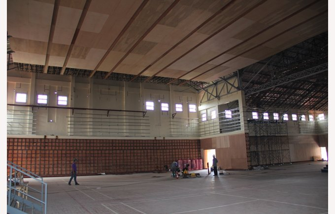 Refurbishment of the Sports Hall, August 2015 | Regents International School Pattaya