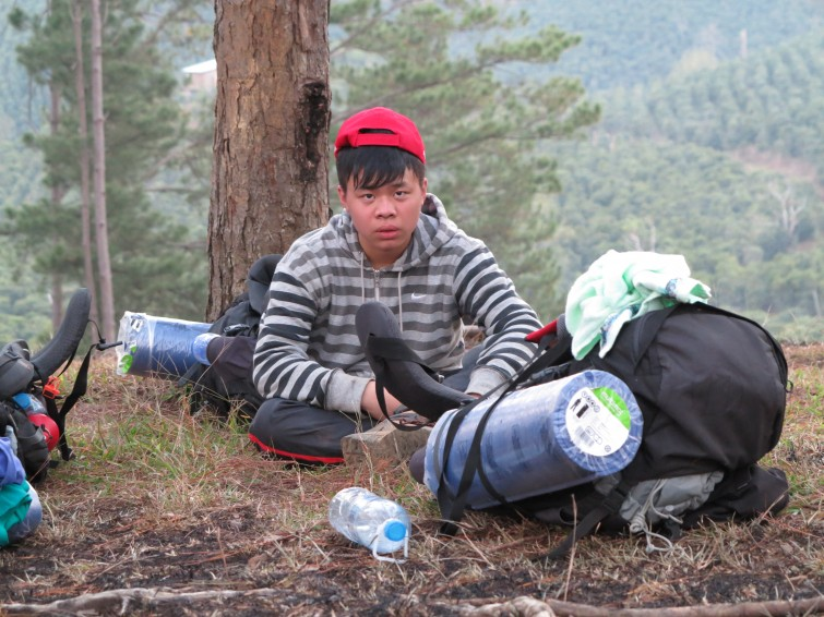 Minh Trang's face says it all - the Qualifying Expedition is tough. Photo credit - Quoc Huy