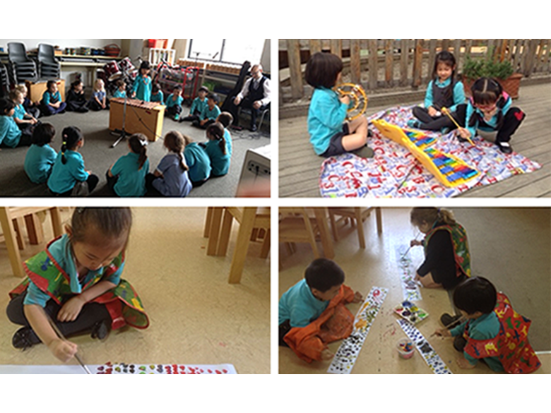 Primary students at the British International School Shanghai, Puxi celebrate their own Music Week