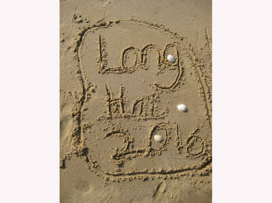 Long Hai 2016 written in the Sand