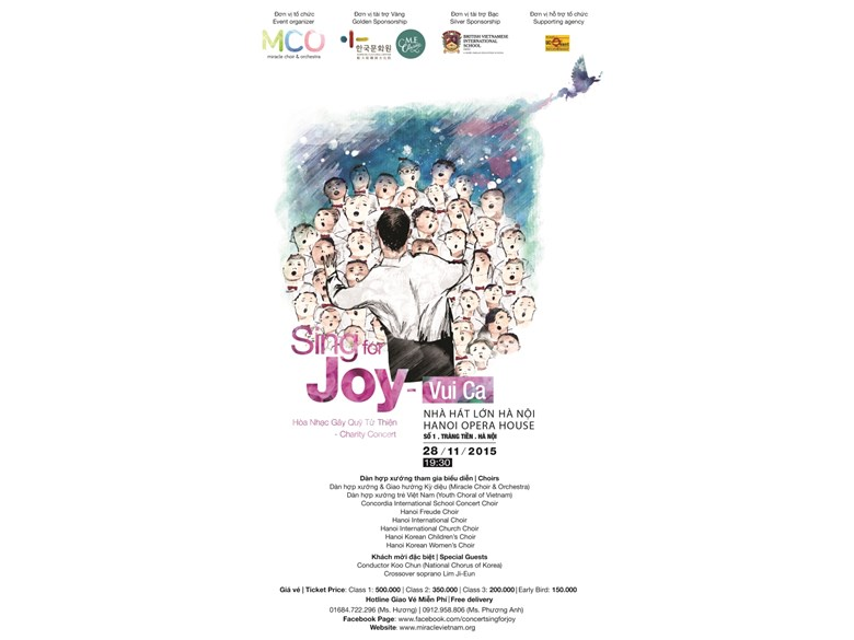Poster Sing for Joy