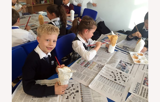 Y3 making Canopic jars