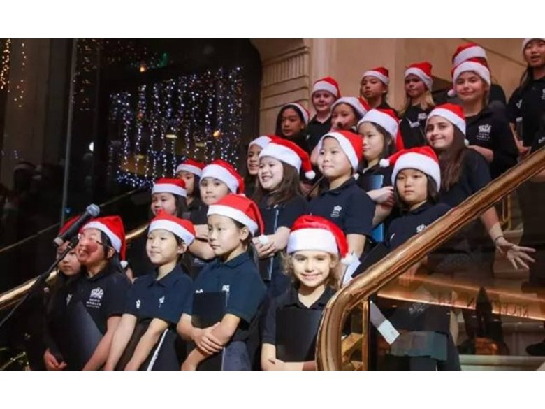 Key Stage 2 Choir Singing at Downtown Hotel