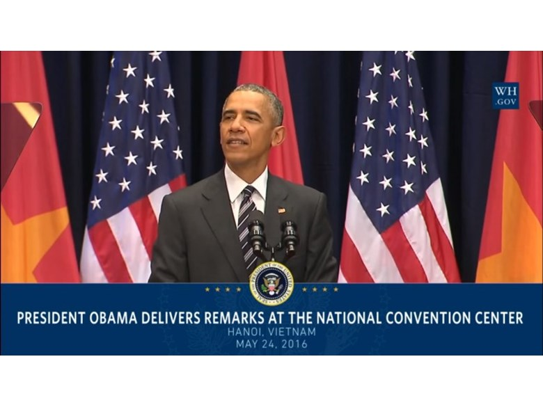 Obama's Speech at Vietnam National Convention Center 24/5/2016