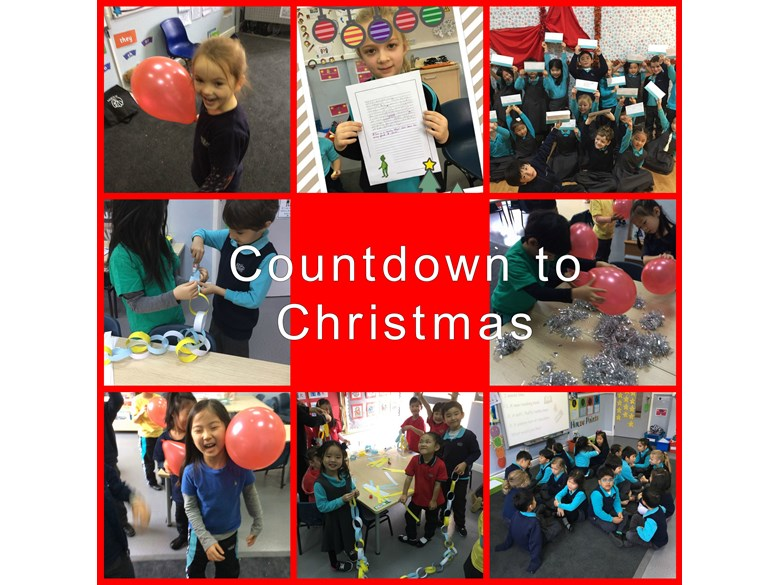 Counting down to Christmas in Year 1