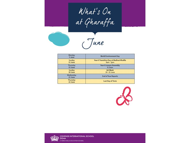 What's on Gharaffa June