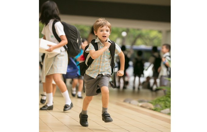 Primary School Boy Running
