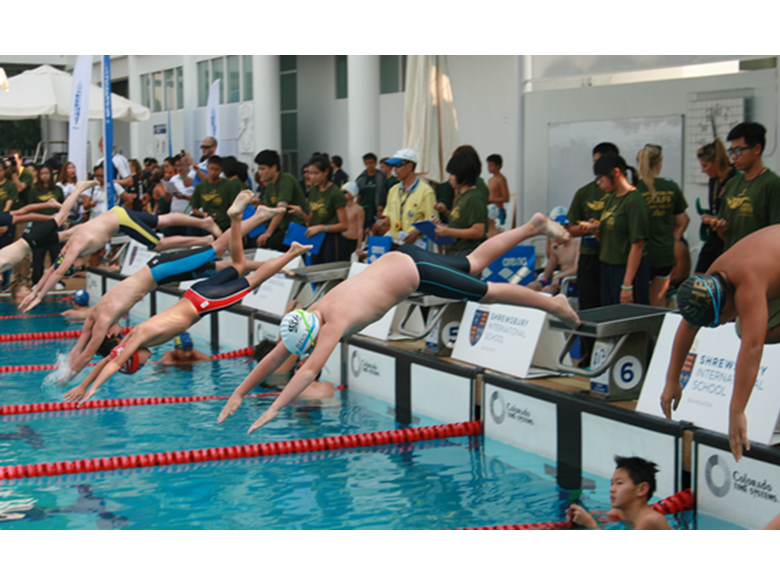 BISS Puxi students compete at the FOBISIA Swimming Invitational in Bangkok