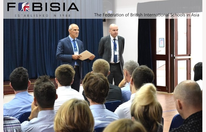 Dr John Moore and Mick Farley from FOBISIA visit to BVIS Hanoi