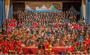 Concert with over 300 students performing