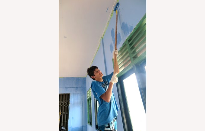 Painting a school