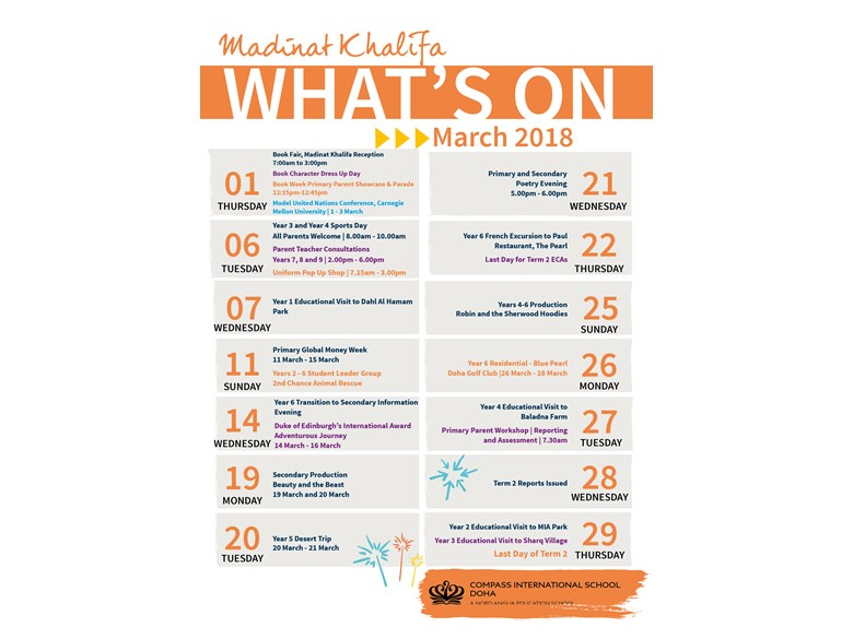 Madinat Khalifa What's on in March