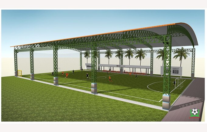 Astroturf at Regents International School Pattaya. Artist impression.