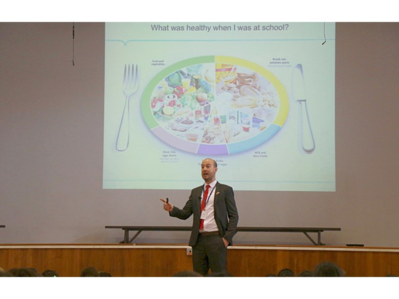 Healthy Mind Platter at Upper Primary Assembly