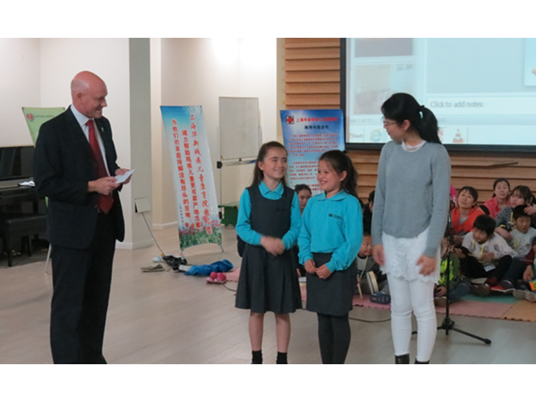 Year 4 students at the British International School Shanghai,Puxi collaborate with children from Huaxin Rehabilitation Centre
