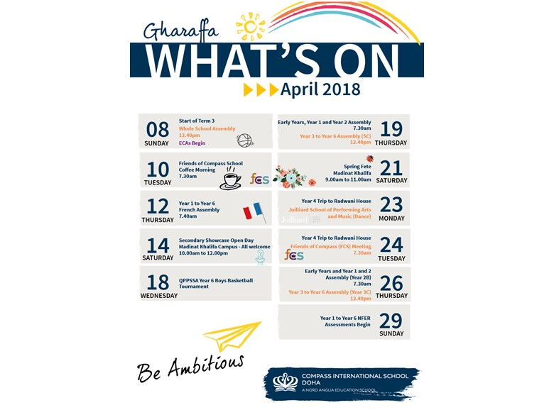 Gharaffa What's on in April